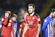 Crawley Town forward James Collins (19) scorer of Crawley Town's winning goal (1-0) during the EFL Sky Bet League 2 match between Crawley Town and Hartlepool United at the Checkatrade.com Stadium, Crawley, England on 14 January 2017. Photo by David Charbit.