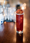 The Tangawizi Skies cocktail — tangerine-infused gin, red lillet, lime and ginger beer — at Boar and Barrel in Madison, WI on Thursday, May 16, 2019.