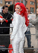 03.APRIL.2013. LONDON<br /> <br /> JODIE MARSH ARRIVES AT THE ITV STUDIOS<br /> <br /> BYLINE: EDBIMAGEARCHIVE.CO.UK<br /> <br /> *THIS IMAGE IS STRICTLY FOR UK NEWSPAPERS AND MAGAZINES ONLY*<br /> *FOR WORLD WIDE SALES AND WEB USE PLEASE CONTACT EDBIMAGEARCHIVE - 0208 954 5968*
