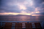 National Geographic Sea Lion's Columbia River Expedition in the Pacific Northwest, Oregon. Sunrise on deck at Astoria, Oregon.