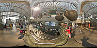Kyoto Train Station Level Two -- 360 Degree Panorama. Composite of 43 images taken with a Leica CL camera and 18 mm f/2.8 lens (ISO 400, 18 mm, f/5.6, 1/60 sec). Raw images processed with Capture One Pro and AutoPano Giga Pro.