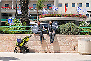 "Israel, Jerusalem Two ""Women in Black"" protest the occupation in front of the Prime Ministers official residence"