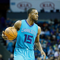 01 November 2015: Charlotte Hornets guard Kemba Walker (15) dribbles during the Atlanta Hawks 94-92 victory over the Charlotte Hornets, at the Time Warner Cable Arena, in Charlotte, North Carolina, USA.
