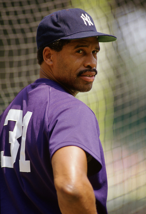 CHICAGO - 1986:  Dave Winfield of the New York Yankees looks on during an MLB game versus the Chicago White Sox during the 1986 season at Comiskey Park in Chicago, Illinois. (Photo by Ron Vesely) Subject:   Dave Winfield