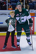 KELOWNA, CANADA - FEBRUARY 02:  First Star of the Game Patrick Bajkov #8 of the Everett Silvertips at the Kelowna Rockets game on February 02, 2018 at Prospera Place in Kelowna, British Columbia, Canada.  (Photo By Cindy Rogers/Nyasa Photography,  *** Local Caption ***