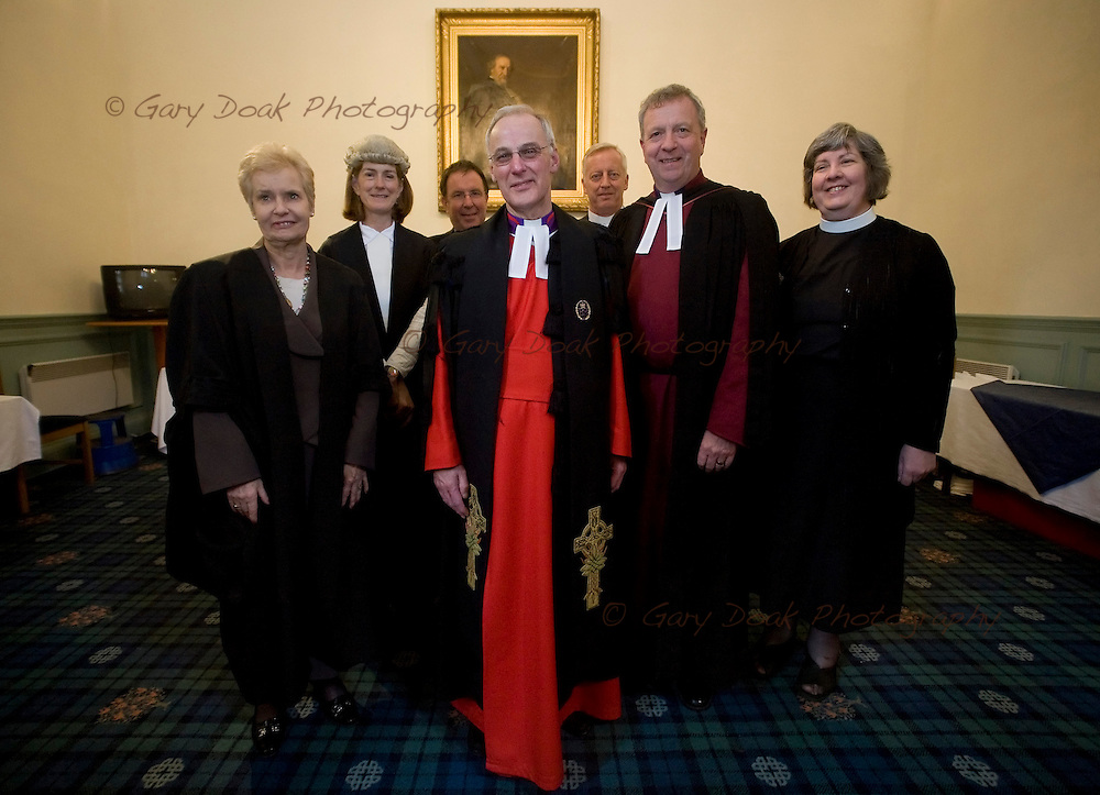 The General Assembly of the Church of Scotland 2010..Principal Clerk, Finlay Macdonald with his colleagues..