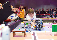 A team of 9 from county Galway were triumphant in Galway at the weekend as they were named Irish champions at the FIRST LEGO League 2012, sponsored by SAP. The theme for this year's competition was food safety.Kevin McAndrew from the Terminators team from County Galway had anxious moments before winning the tough competition qualifying them for a place in the European finals which will take place in Germany in June. .. Photo:Andrew Downes.