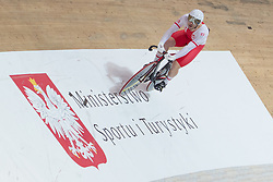 March 2, 2019 - Pruszkow, Poland - Mateusz Rudyk of Poland competes in the Men's sprint qualifying race on day four of the UCI Track Cycling World Championships held in the BGZ BNP Paribas Velodrome Arena on March 02 2019 in Pruszkow, Poland. (Credit Image: © Foto Olimpik/NurPhoto via ZUMA Press)