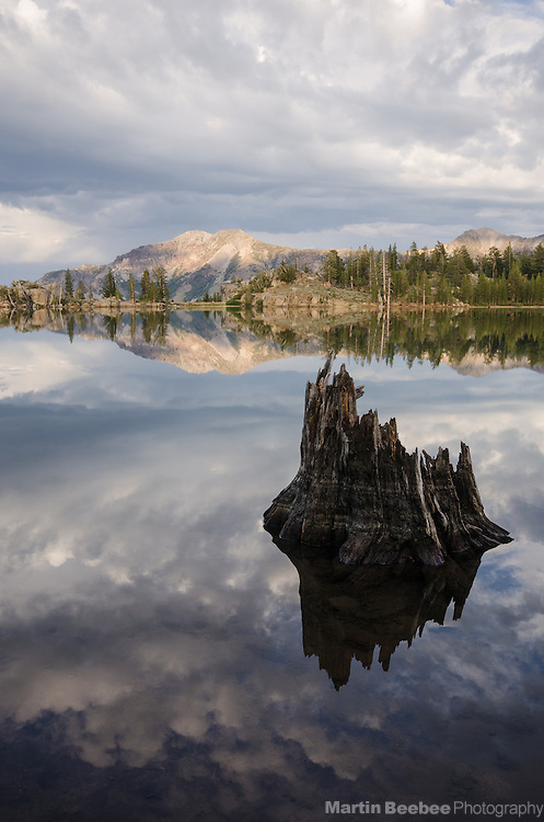 Storm clouds above Silver Peak and Upper Kinney Lake, Toiyabe National Forest, California