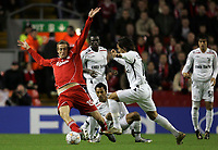 Photo: Paul Thomas/Sportsbeat Images.<br /> Liverpool v Besiktas. UEFA Champions League. 06/11/2007.<br /> <br /> Peter Crouch (Red) of Liverpool keeps the ball.