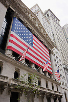 New York Stock Exchange NYSE on Wall Street in New York October 2008