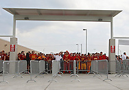September 12, 2009: Students lineout outside the gate before the game between the Iowa Hawkeyes and the Iowa State Cyclons at Jack Trice Stadium in Ames, Iowa on September 12, 2009.