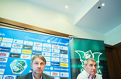 Ranko Stojic, director and Marijan Pusnik introduced as a new coach during press conference of NK Olimpija before new season 2015/16, on June 10, 2015 in Austria Trend Hotel, Ljubljana, Slovenia. Photo by Vid Ponikvar / Sportida