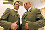 (L) SERGEANT SEBASTIAN CHMARA (DECATHLON) & (R) PIOTR MALACHOWSKI (DISCUS) DURING MILITARY SPORT'S GALA 2009 IN THE POLISH ARMY GENERAL STAFF IN WARSAW, POLAND..WARSAW , POLAND , MARCH 31, 2010..( PHOTO BY ADAM NURKIEWICZ / MEDIASPORT )..PICTURE ALSO AVAIBLE IN RAW OR TIFF FORMAT ON SPECIAL REQUEST.
