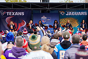 Houston Texans Cheerleaders during the International Series match between Jacksonville Jaguars and Houston Texans at Wembley Stadium, London, England on 3 November 2019.