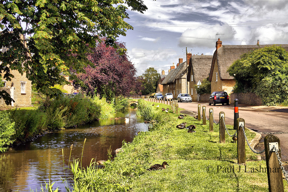 Northamptonshire village of Grafton Underwood, northeast of Kettering.<br />