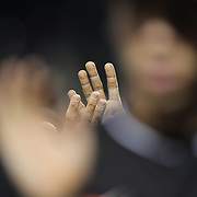 NEW YORK, NEW YORK - July 05: Miami Marlins players high five after their victory during the Miami Marlins Vs New York Mets regular season MLB game at Citi Field on July 05, 2016 in New York City. (Photo by Tim Clayton/Corbis via Getty Images)
