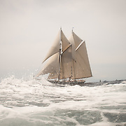 The Columbia of 1923 was a fishing schooner built at the Arthur Dana Story shipyard in Essex, MA, from a design by Starling Burgess. She was famous for her speed and seaworthiness and for winning international schooner races, including one against Bluenose. Columbia was lost with all hands in a hurricane off Sable Island, Nova Scotia in 1927. The Columbia of 2014 was recently launched at Eastern Shipbuilding in Panama City, FL. The 141 foot long schooner was also built to the same design as her namesake, although the new Columbia is built as a yacht rather than as a fisherman and of steel rather than wood. Burgess' plans were adapted for steel construction by Gilbert Associates, naval architects in Boston.