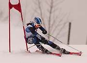 Second overall in the girls giant slalom individual competition, Lucy Causley of Harbor Springs makes her second of two slalom runs at Boyne Highlands Resort in Harbor Springs at the Division 2 State Ski Finals.