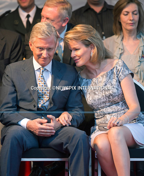PRINCE PHILIPPE AND PRINCESS MATHILDE<br /> attend the National Ball prior to the Abdication of the King_20/07/2013<br /> Mandatory Credit Photos:&copy;NEWSPIX INTERNATIONAL<br /> <br /> **ALL FEES PAYABLE TO: &quot;NEWSPIX INTERNATIONAL&quot;**<br /> <br /> PHOTO CREDIT MANDATORY!!: NEWSPIX INTERNATIONAL(Failure to credit will incur a surcharge of 100% of reproduction fees)<br /> <br /> IMMEDIATE CONFIRMATION OF USAGE REQUIRED:<br /> Newspix International, 31 Chinnery Hill, Bishop's Stortford, ENGLAND CM23 3PS<br /> Tel:+441279 324672  ; Fax: +441279656877<br /> Mobile:  0777568 1153<br /> e-mail: info@newspixinternational.co.uk