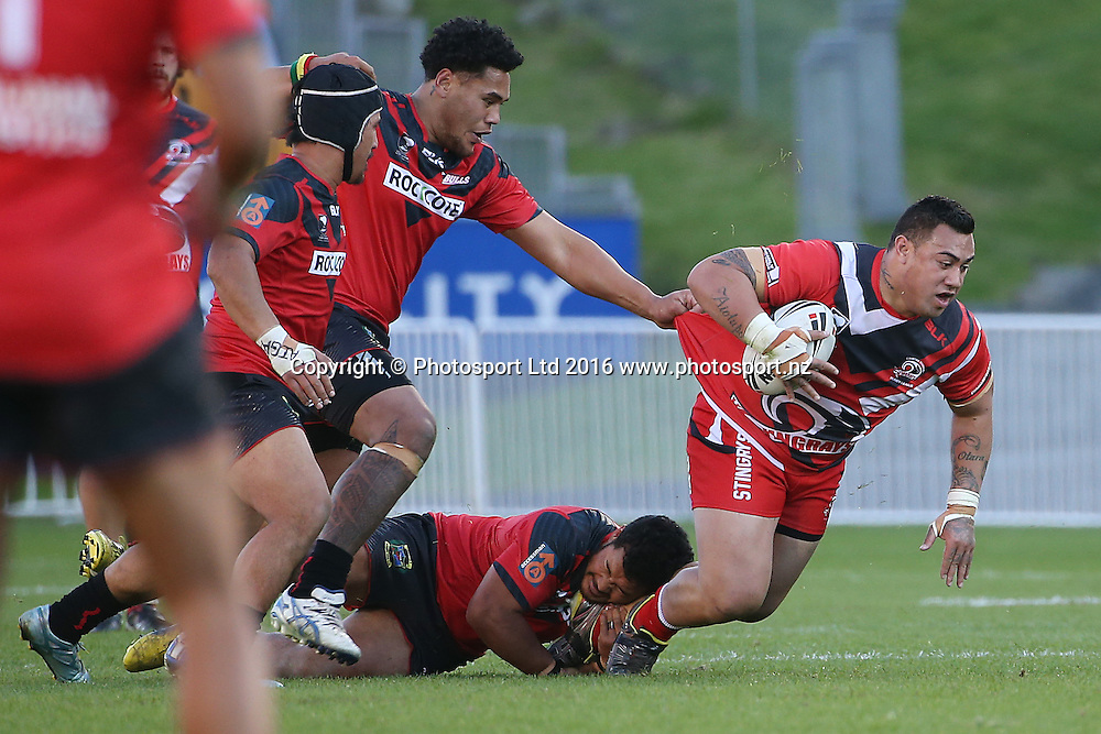 Connor Purcell of the Stingrays during the National Premier League match Counties Manukau Stingrays v Canterbury Bulls at Mt Smart Stadium on Sunday 11 September 2016. Auckland, New Zealand. © Copyright Photo: Fiona Goodall / www.photosport.nz