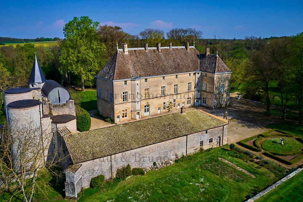 France, Saône-et-Loire (71), Mellecey, le château de Germolles // France, Saône-et-Loire (71), Mellecey, Germolles castle