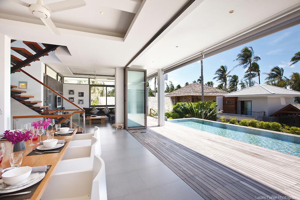 Upper villa dining area, Inasia Villa, Lipa Noi, Koh Samui, Thailand