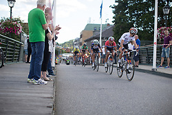 Thalita de Jong (NED) of Rabo-Liv Cycling Team checks the situation behind her in the penultimate lap of the 117,5 km third stage of the 2016 Ladies' Tour of Norway women's road cycling race on August 13, 2016 between Svinesund, Sweden and Halden, Norway. (Photo by Balint Hamvas/Velofocus)
