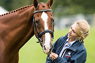 Holly Woodhead (GBR) & DHI Lupison - First Horse Inspection - Longines FEI European Eventing Championships - Blair Castle, Scotland - 09 September 2015