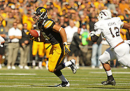 September 21 2013: Iowa Hawkeyes tight end C.J. Fiedorowicz (86) runs after a catch during the first quarter of the NCAA football game between the Western Michigan Broncos and the Iowa Hawkeyes at Kinnick Stadium in Iowa City, Iowa on September 21, 2013. Iowa defeated Western Michigan 59-3.