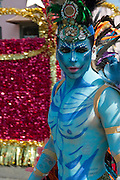 Male, Blue Avatar, Makeup, Dress,  LA Pride 2010 West Hollywood, CA Parade High dynamic range imaging (HDRI or HDR)