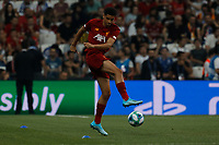 ISTANBUL, TURKEY - AUGUST 14: Ki-Jana Hoever of Liverpool in action during the warm-up ahead of the UEFA Super Cup match between Liverpool and Chelsea at Besiktas Park on August 14, 2019 in Istanbul, Turkey. (Photo by MB Media/Getty Images)