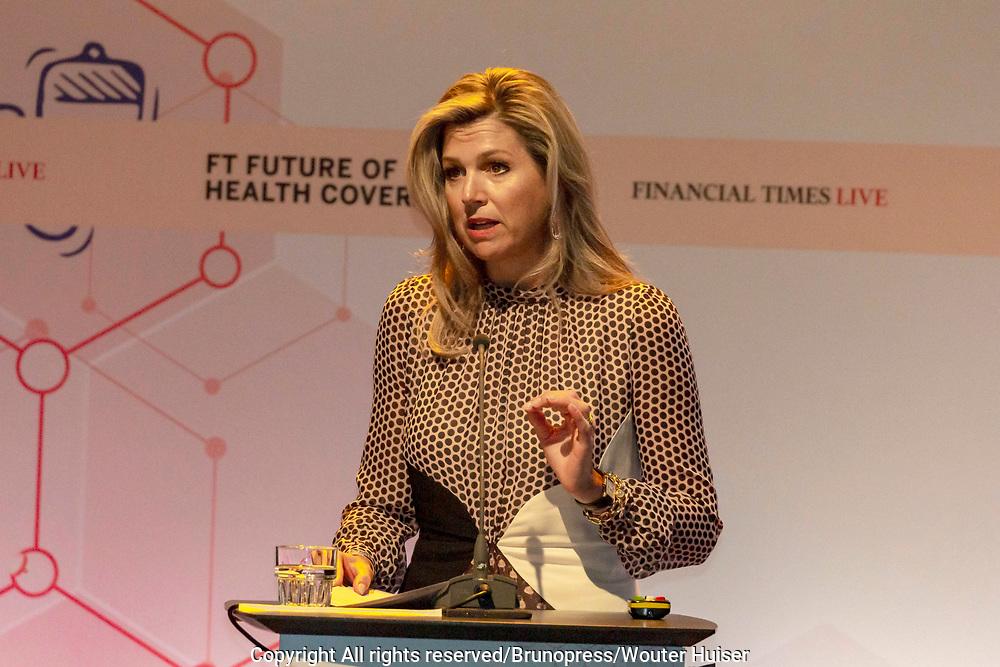 Koningin Máxima houdt openingstoespraak bij conferentie 'Future of Health Coverage'