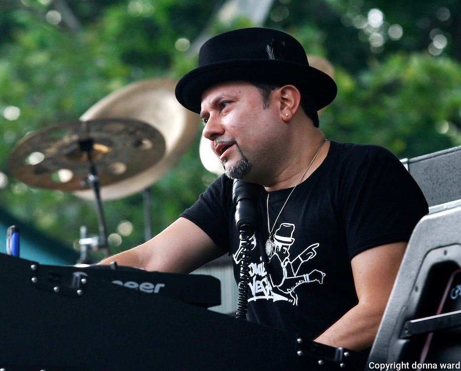 Louie Vega of the Masters At Work performs during the 30th Anniversary season of Central Park SummerStage in Rumsey Playfield in New York City, New York on July 01, 2015.