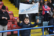 Rochdale supporters pre-match  during the The FA Cup match between Rochdale and Tottenham Hotspur at Spotland, Rochdale, England on 18 February 2018. Picture by Daniel Youngs.