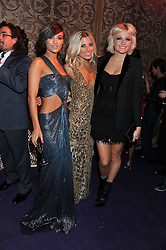 Left to right, FRANKIE SANDFORD, MOLLIE KING and PIXIE LOTT at a party hosted by Roberto Cavalli to celebrate his new Boutique's opening at 22 Sloane Street, London followed by a party at Battersea Power Station, London SW8 on 17th September 2011.