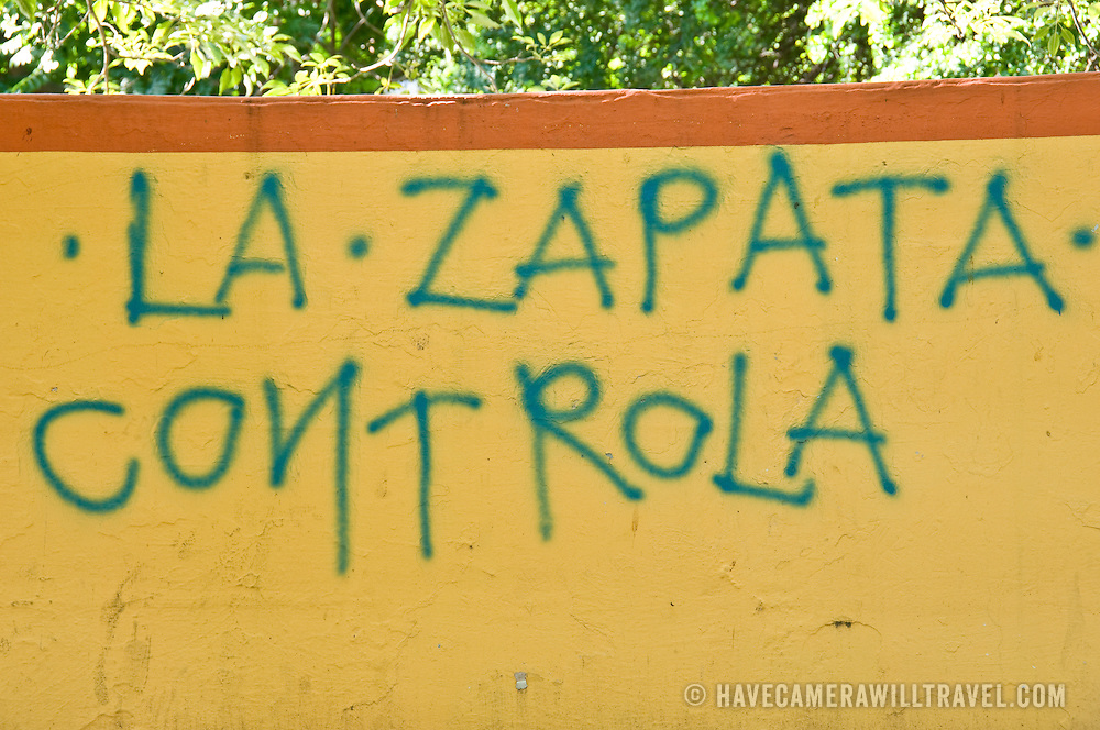 Graffiti referencing Emilano Zapata (1879-1919) a leading figure in the Mexican Revolution