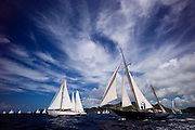 Petrana and Kate saling in the Old Road Race at the 2011 Antigua Classic Yacht Regatta.