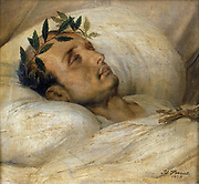 Napoleon on his deathbed, May 1821. (1825).  Horace Vernet (1789-1863) French military and sporting painter .Oil on canvas.