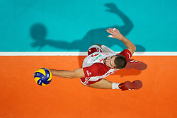 23-09-2019 NED: EC Volleyball 2019 Poland - Germany, Apeldoorn<br /> 1/4 final EC Volleyball Poland win 3-0 / Dawid Konarski #3 of Poland