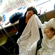On December 27, 2012 two year old Holly Larue Frizzelle was diagnosed with Acute Lymphoblastic Leukemia. What began as a stomach ache and visit to her regular pediatrician led to a hospital admission, transport to the University of North Carolina Children's Hospital, and more than two years of treatment. Leilani Frizzelle sits with her daughter Holly Larue Frizzelle, 2, as Larue receives a blood transfusion at The UNC Caner Hospital in Chapel Hill, N.C.