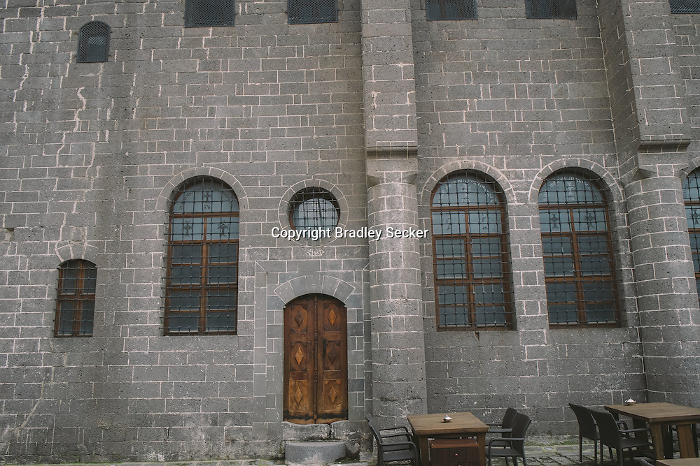 The exterior of the Surp Giragos Armenian church in the predominantly Kurdish city of Diyarbakir in south eastern Turkey.
