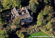 aerial photograph of Hall i' th' Wood Bolton Lancashire England UK