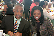 April 7, 2012 New York, NY:  (L-R) Rev. Al Sharpton, Media Personality/President, National Action Network and Tamika Mallory, National Executive Director, National Action Network attends the 62nd Annual Women of Distinction Spirit Awards Luncheon & Fashion Show sponsored by The Links, Inc- Greater New York Chapter held at Pier Sixty at Chelsea Piers on April 7, 2012 in New York City...Established in 1946, The Links,  incorporated, is one of the nation's oldest and largest volunteer service of women, linked in friendship, are committed to enriching, sustaining and ensuring the culture and economic survival of African-American and persons of African descent . The Links Incorporated is a not-for-profit organization, which consists of nearly 12, 000 professional women of color in 272 located in 42 states, the District of Columbia and the Bahamas. (Photo by Terrence Jennings)