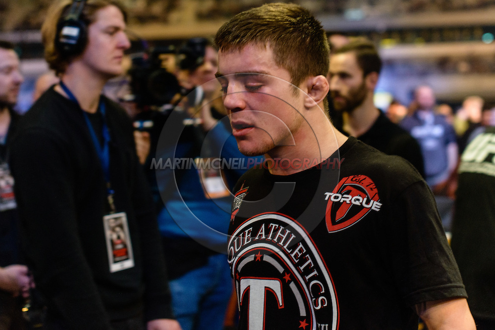 """STOCKHOLM, SWEDEN, JANUARY 24, 2015: Andy Ogle during """"UFC on Fox 14: Gustafsson vs. Johnson"""" inside Tele2 Arena in Stockholm, Sweden"""