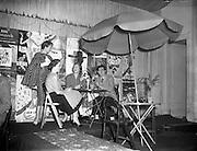 "25/02/19<br /> 02/25/1957<br /> 25 February 1957<br /> ""Springtime in Ireland"" fashion show  at the Gresham Hotel, Dublin for Marian Woodbyne."