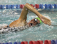 Iowa City West's Erica Hsu competes in the 500 yard freestyle event at the Girls' High School State Swimming & Diving Championships at the Marshalltown YMCA/YWCA in Marshalltown on Saturday, November 9, 2013. Hsu placed seventh with a time of 5:10.36.