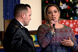 Joanna Otero-Cruz, Deputy Managing Director for Community Services speaks during a January 9, 2019 town hall meeting in which the community of Kensington and Port Richmond are informed on the progress of Philadelphia Mayor's Opioid Task Force and the Philadelphia Resilience Project. (Bastiaan Slabbers for WHYY)