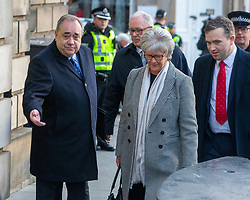 Alex Salmond arrives at the High Court in relation to sexual offence charges.
