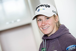 Nika Razinger during press conference of Slovenian Nordic Ski team before new season 2017/18, on November 14, 2017 in Gorenje, Ljubljana - Crnuce, Slovenia. Photo by Vid Ponikvar / Sportida